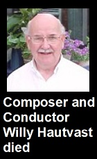 2020-05-07 Composer and conductor Willy Hautvast died - Klik hier
