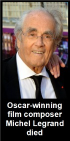 2019-02-01 Michel Legrand died at the age of 86 in Paris - Klik hier
