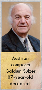 2018-04-12 Austrian composer Balduin Sulzer 87-year-old deceased - Klik hier